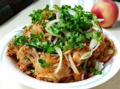 Острая закуска по корейски Хе из курицы