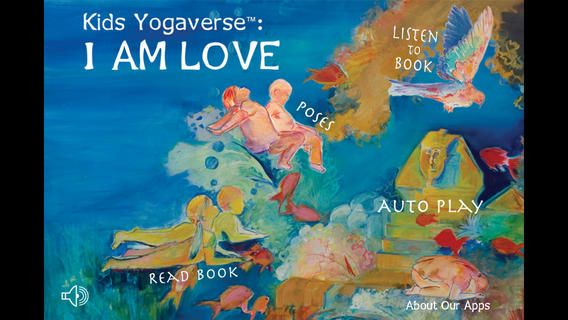 "Kids Yogaverse: $1.99 I AM LOVE is ""Highly recommended"" by the US Surgeon General as a healthy app choice. This award-winning STORY was the very FIRST iPad application developed to teach yoga to kids around the world. #mindfulness"