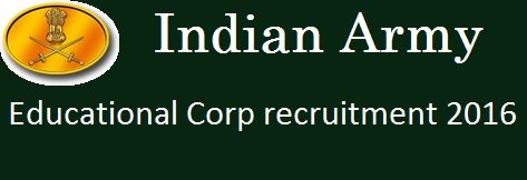Indian Army Educational Corp recruitment 2016 http://www.exampreportal.com/indian-army-educational-corp-recruitment-2016/