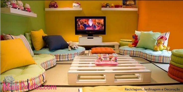 76 best Mesas feitas com Paletes images on Pinterest | Mesa de sofá ...