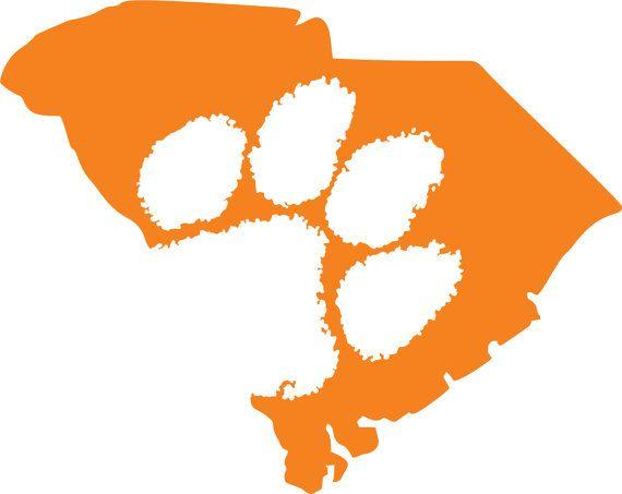 Clemson Tigers Sc Outline Sticker Custom By