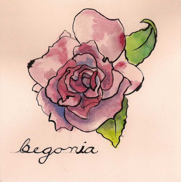 Image Result For Watercolor Begonia Step By Step Drawings Sublime Tattoo Collar Bone Tattoo