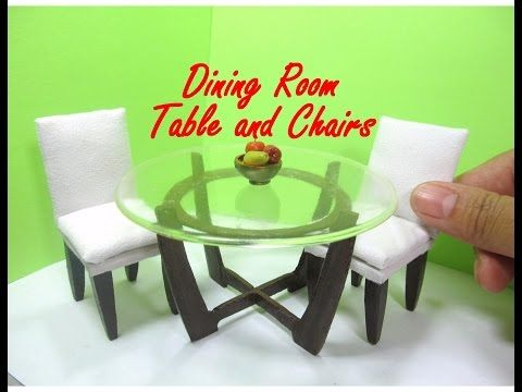 Dining Table and Chairs Tutorial for Dollhouse Dolls and Miniature (How to Make) - YouTube