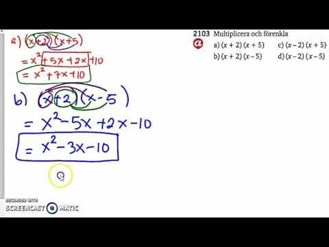 Matematik 5000 2bc VUX - Kapitel 2 - Algebra och ickelinjära modeller (A...