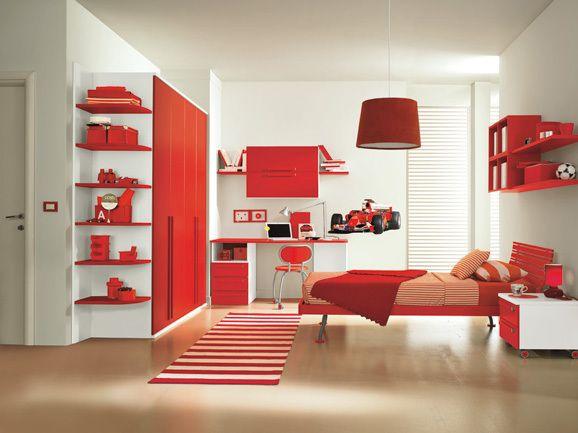 Fotos von roten Jugendzimmern