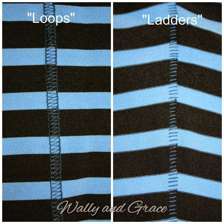 Wally and Grace Designs: How to Sew a Flatlock Stitch with Your Serger - uses 3 thread overlocking and has a tension guide