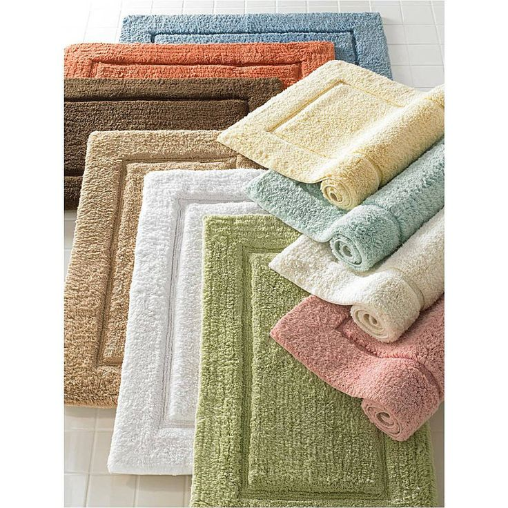 Elegance Large Bath Rugs: Kassatex® Elegance Large Bath Rugs Are Made In  India Of