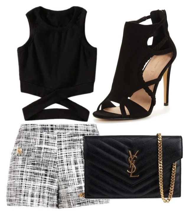 """""""Summer casual"""" by tovenilsen on Polyvore featuring Boutique Moschino and Yves Saint Laurent"""