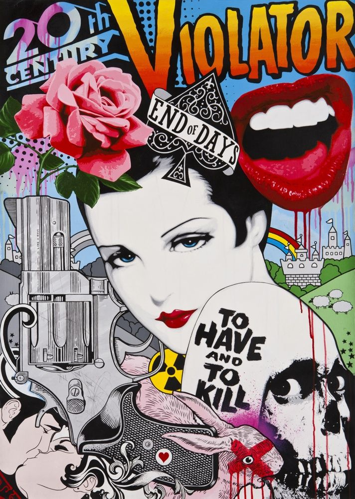 '20th Century Violator' - print by Ben Frost - available now at:http://www.stupidkrap.com/artist/ben-frost/20th-century-violator-0