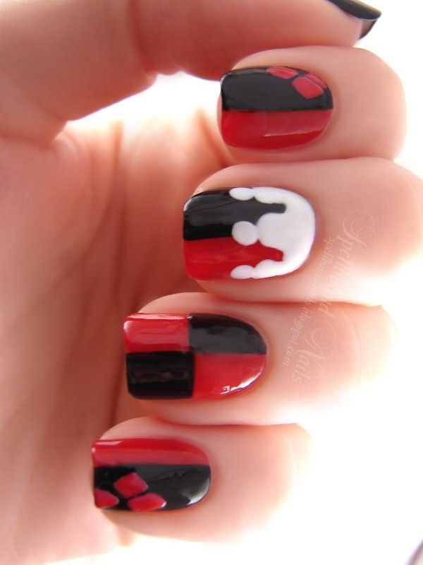 Harley Quinn Nails Funny Hy Life By Directioner