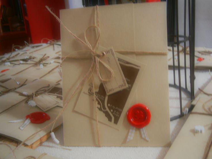 d i y wedding invitations with sealing wax