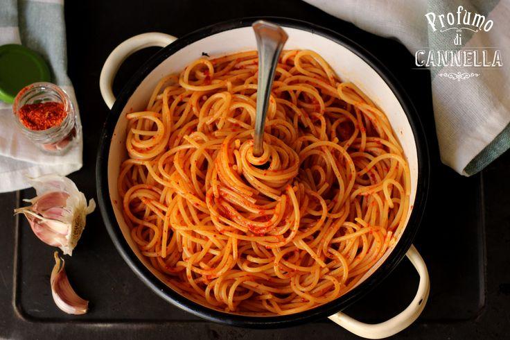 Spaghetti aglio e olio lucani
