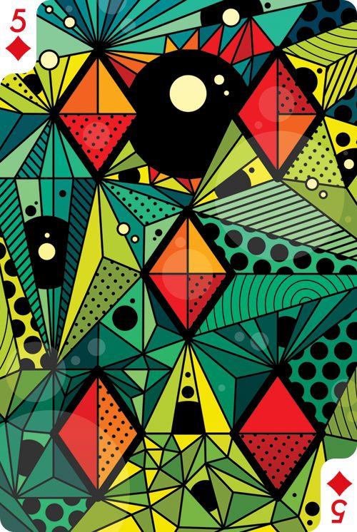 Five of Diamonds by Evgeny Kiselev