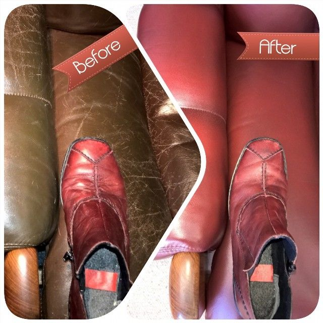 Recolouring a Tessa leather armchair to match a Reiker leather shoe supplied by the client.