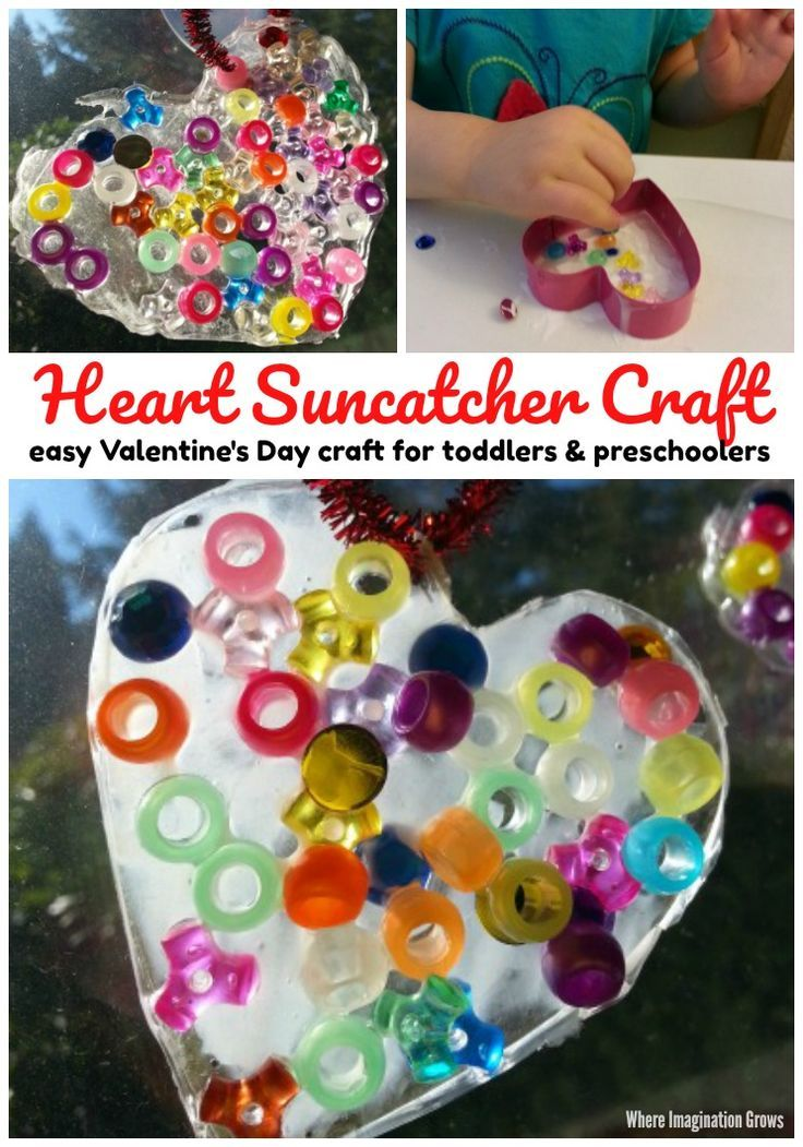 Valentine S Day Heart Suncatcher Craft 3 6 Year Olds Awesome