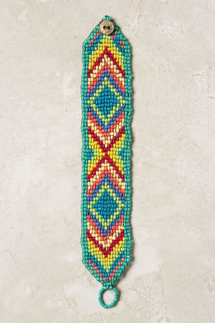 Love the colors.Bracelets Anthropology, Bright Beads Loom Bracelets, Beads Bracelets, Anthropologie Com, Astoria Beads, Beads Pattern, String Bracelets, Native American, Accessories Bracelets Beads