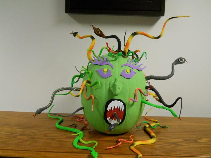 Our Medusa Pumpkin Creation Halloween Pinterest Pumpkins