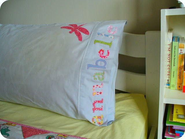 Make. Life. Beautiful.: Personalised pillowslip - A tutorial