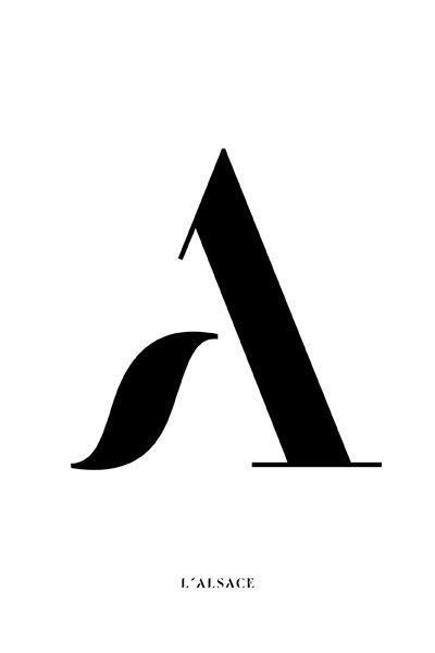 typography | momogram A