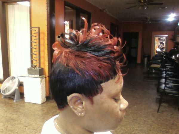 Black Ghetto Hairstyles Short Colorful Unique Hairstyles