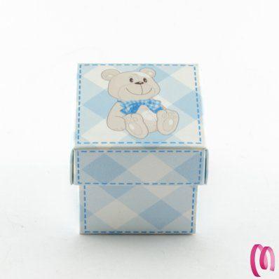 Portaconfetti scatolinaOrsetto Cubo Venduto in confezioni da 10 pezzi
