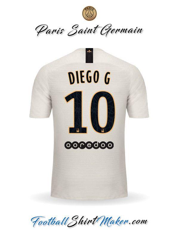 0b83a5cedb0 Crear Camiseta de Paris Saint Germain 2018/19 II con tu Nombre ...
