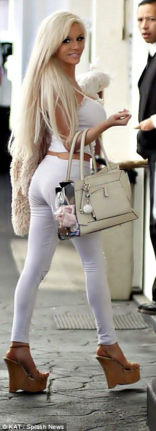 courtney stodden white leggings - Google Search
