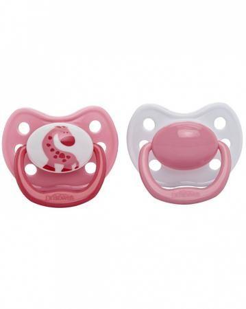 Dr.Brown's 6-12 месяцев Розовый жираф 2 шт.  — 404р. ----------- Силиконовые ортодонтические пустышки 6-18 месяцев 2 шт. Браун позволяют ребенку восполнить потребность в сосании.