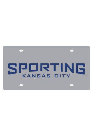 Sporting Kansas City Grey Wordmark Car Accessory License Plate
