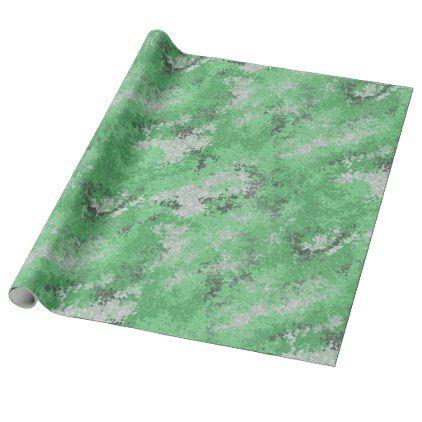 Green Digi Camo Wrapping Paper - craft supplies diy custom design supply special