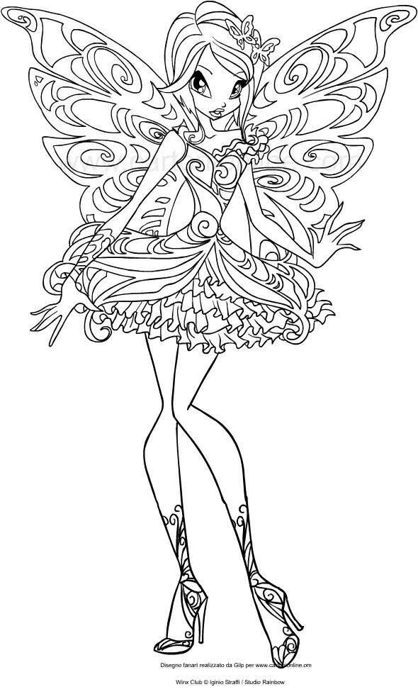 Pin By Peachy On Winx Butterflix Love Coloring Pages Coloring Pages Winx Club