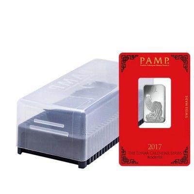 Box of 25 - 10 gram PAMP Suisse Year of the Rooster Silver Bar (In Assay) https://bullionexchanges.com/box-of-25-10-gram-pamp-suisse-rooster-silver-bar-assay (scheduled via http://www.tailwindapp.com?utm_source=pinterest&utm_medium=twpin&utm_content=post129654247&utm_campaign=scheduler_attribution)