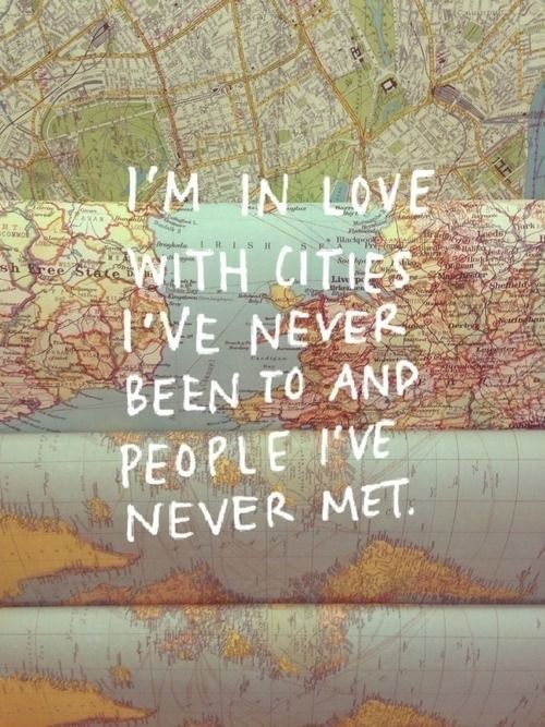 True this! Oh to travel the world & be there - actually be there meeting the peoples, their stories, their song.