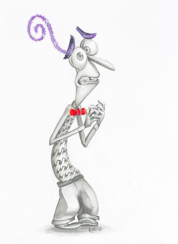 Inside out-fear-pixar-disney-fan-art-character art-wall art- drawing