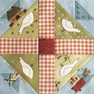 Block 62 – Hen and Chicks – The Splendid Sampler™