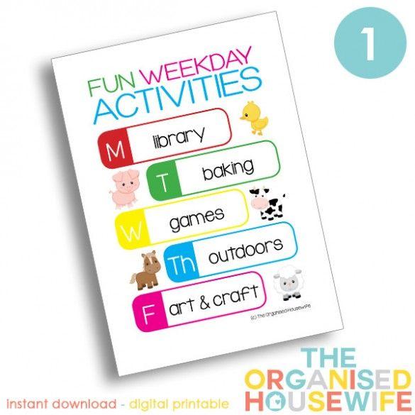 Fun Weekday Activities - with activities - version 1