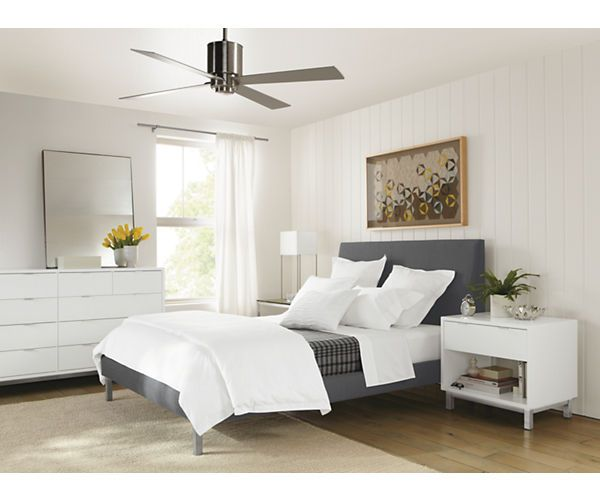 Ella Bed with Stainless Steel Legs - Beds - Bedroom - Room & Board ...