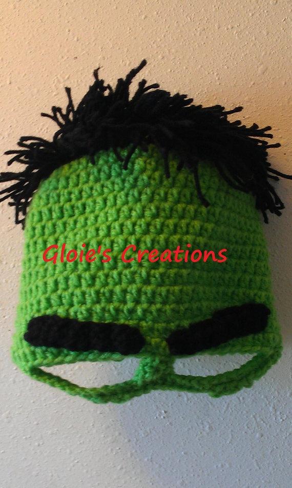 INCREDIBLE HULK Crochet Hat Beanie Newborn to Adult by ...
