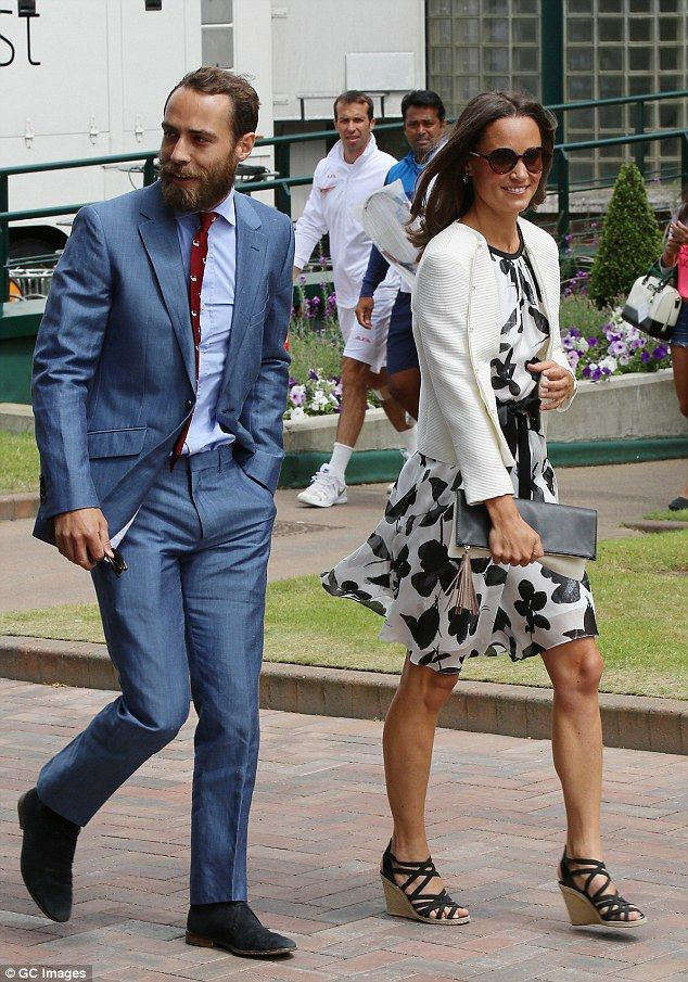 Look who it is! James and Pippa Middleton, who are avid tennis fans, arrived at Wimbledon today to enjoy the summer sport