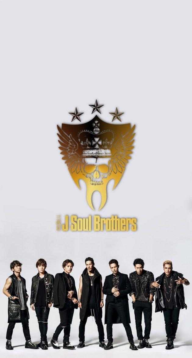 三代目 J Soul Brothersメンバーゴールドロゴ iPhone壁紙 Wallpaper Backgrounds iPhone6/6S and Plus  NAOTO 小林直己 ELLY 山下健二郎 岩田剛典 今市隆二 登坂広臣