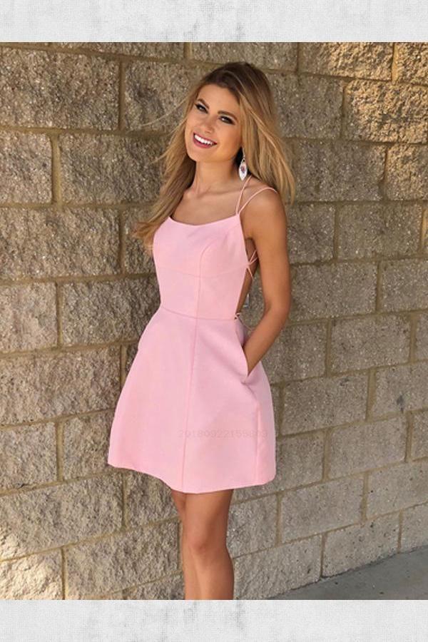 Simple Short Homecoming Dresses