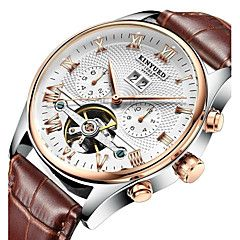 KINYUED Men's Mechanical Watch Wrist watch Skeleton Watch Dress Watch Automatic self-winding Calendar  Chronograph Water. Best cheap watches are cool watches too. You can buy best watches under 100 dollars. Very affordable watches and mens watch under 100. Best affordable watches - these are amazing watches below 100 bucks,  and affordable mens watches too.