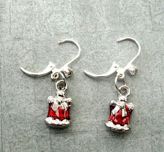 Holiday Gift Earrings Gift Shape Christmas Jewelry Gift Christmas Gift Jewelry Etsy Jewelry Handmade Valentines Jewelry