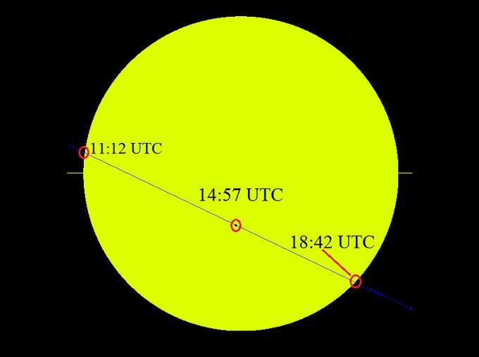 W najbliższy poniedziałek, 9 maja 2016, w godzinach od 13:12 do 20:42 naszego czasu, na tle tarczy słonecznej będzie przechodził Merkury.