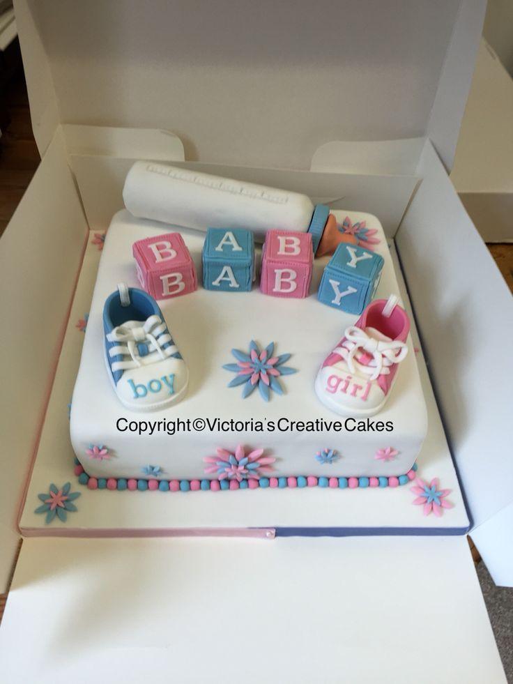 Amazing Unisex Baby Shower Ideas Part - 6: Unisex Baby Shower Cake