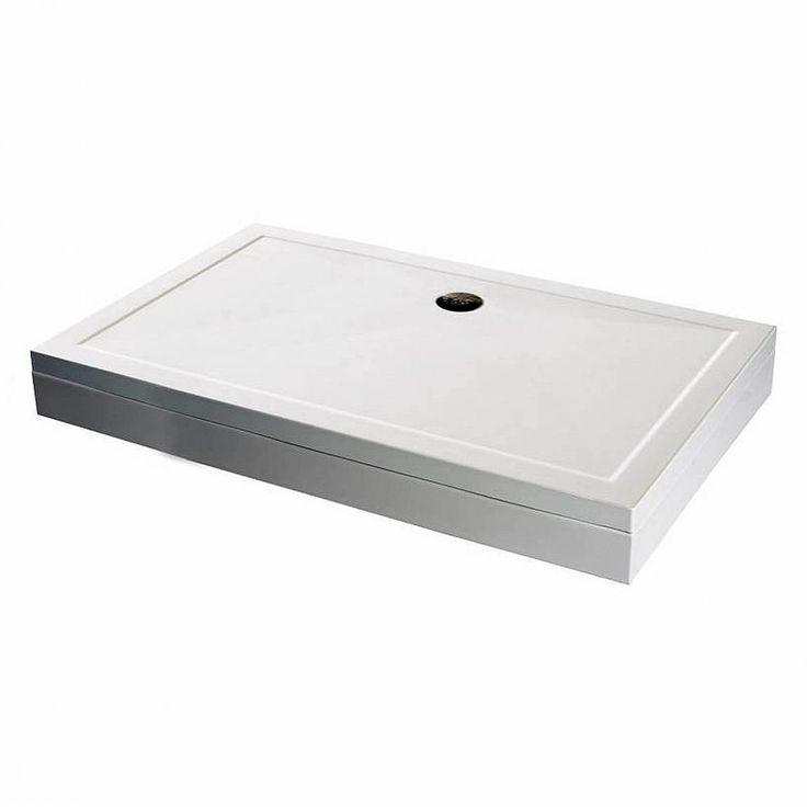 Rectangular stone shower tray with riser kit 800 x 700 | VictoriaPlum.com £129.00