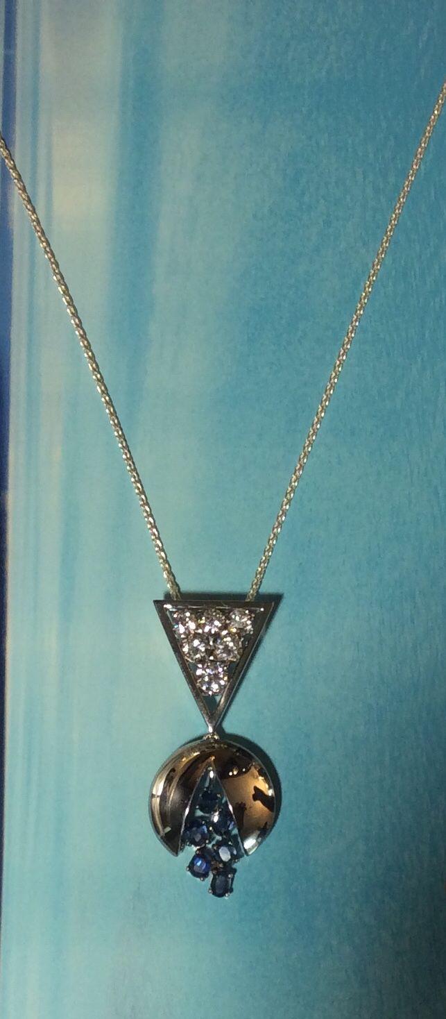 Diamond and Sapphire Pendent