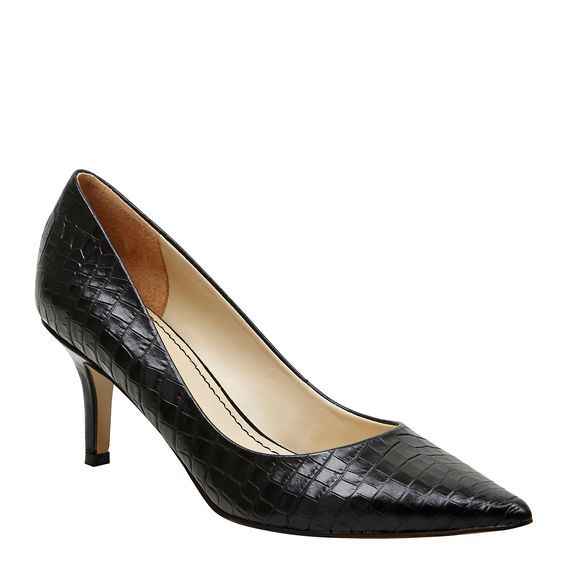 AUSTIN  BLACK CROC 7cm best heel height