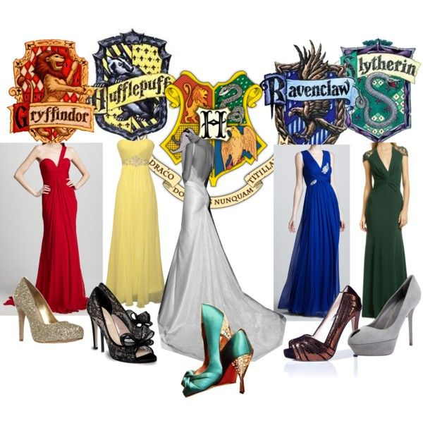 Harry potter wedding bridal party by bgriffin on for Harry potter wedding dress