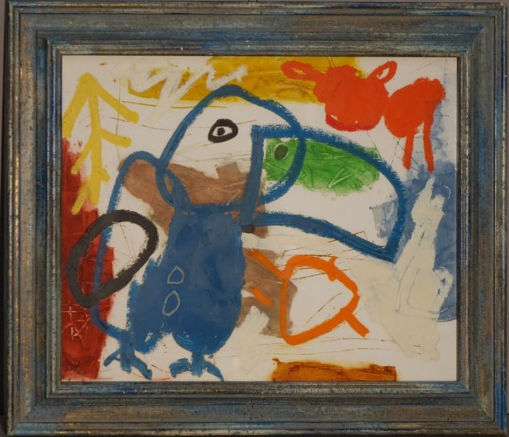 misure: cornice 39,5 x 40,5 cm  Gianfranco Asveri, nato a Fiorenzuola d'Arda nel 1948, vive e lavora sulle colline piacentine.Autodidatta, inizia il suo percorso artistico nel 1969 con un linguaggio figurativo e tradizionale, la sua pittura cambia dagli anni ottanta, si fa più...